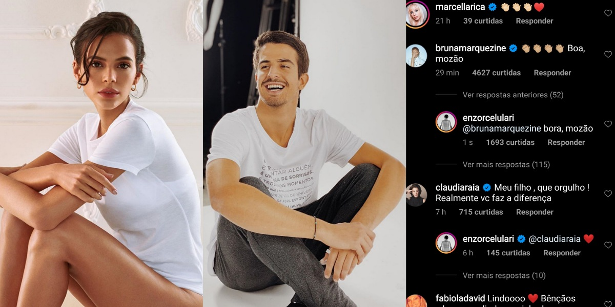 Após rumores de affair Bruna Marquezine debocha em publicação de Enzo Celulari (Foto: Reprodução/Instagram)