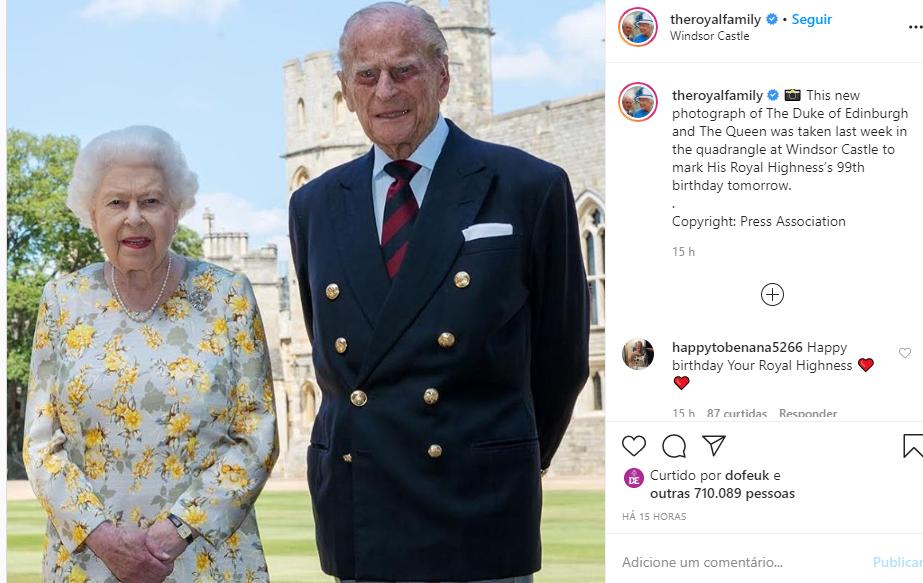 Foto compartilhada pela família real no Instagram (Foto: Reprodução)