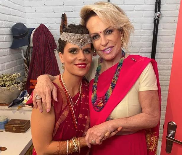 Ana Maria Braga e a filha (Foto: reprodução)