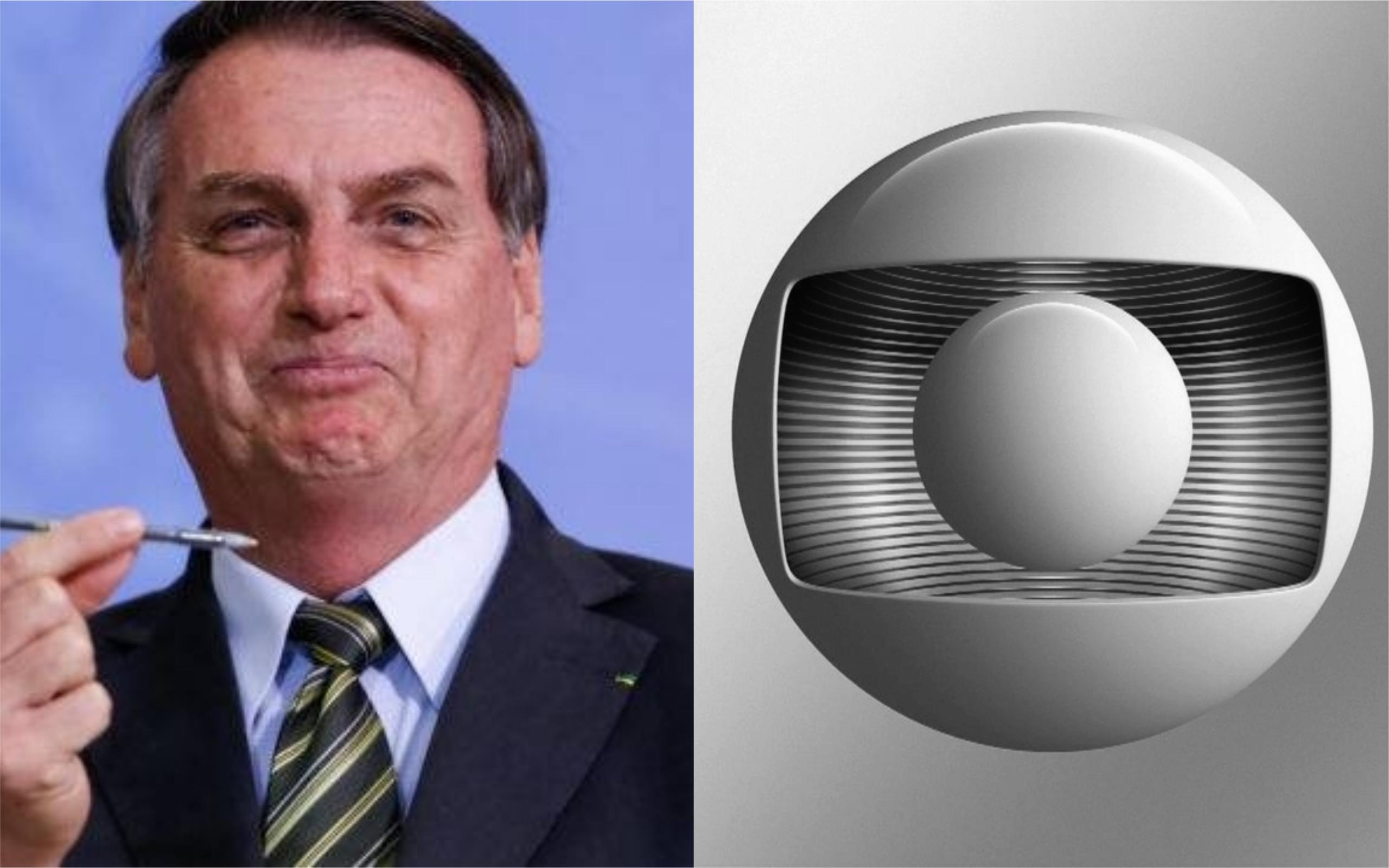 Bolsonaro voltou a atacar a Globo (Foto: Divulgação)