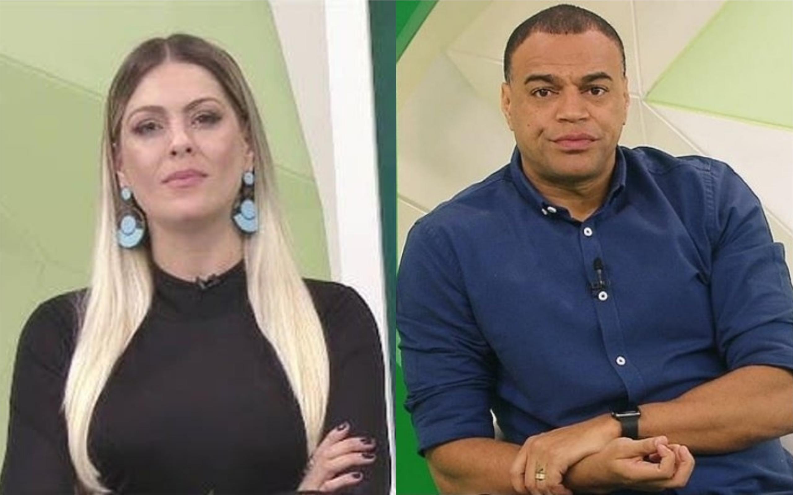Renata Fan e Denilson apresentam o Jogo Aberto (Foto: Diulgçaão)