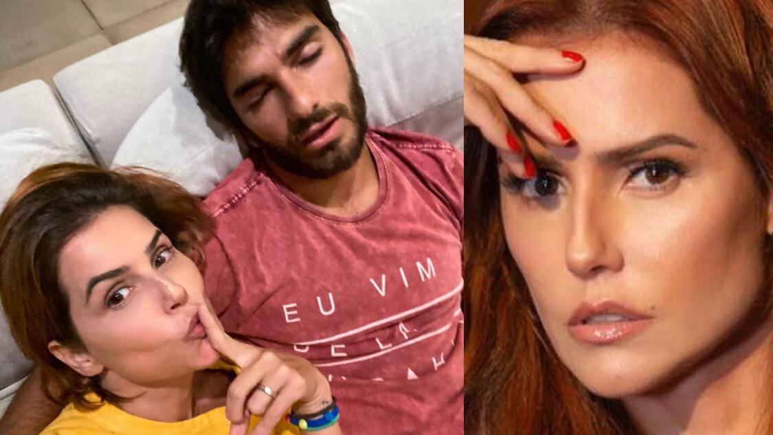 Déborah Secco com o marido Hugo Moura (Reprodução/ Montagem)