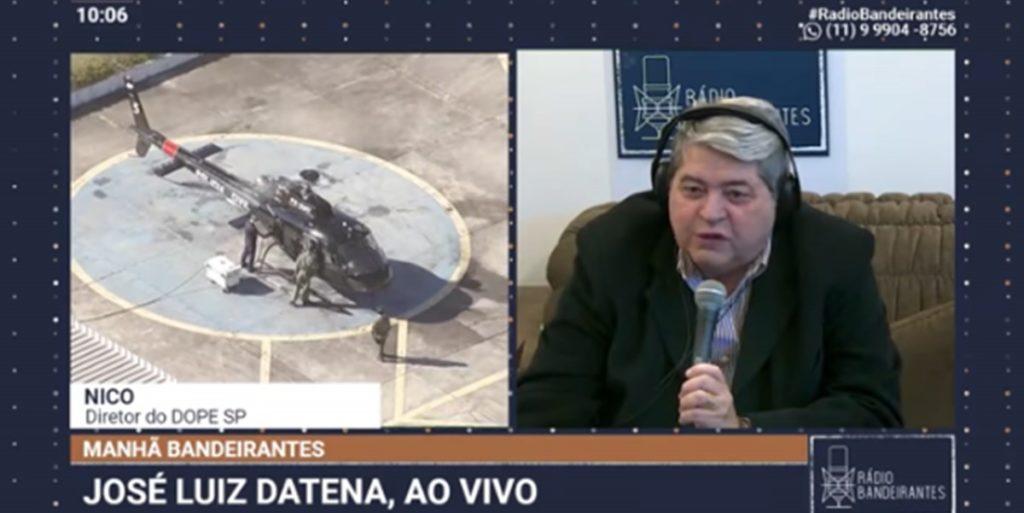 Datena durante o seu programa na Rádio Bandeirantes (Foto: Reprodução)