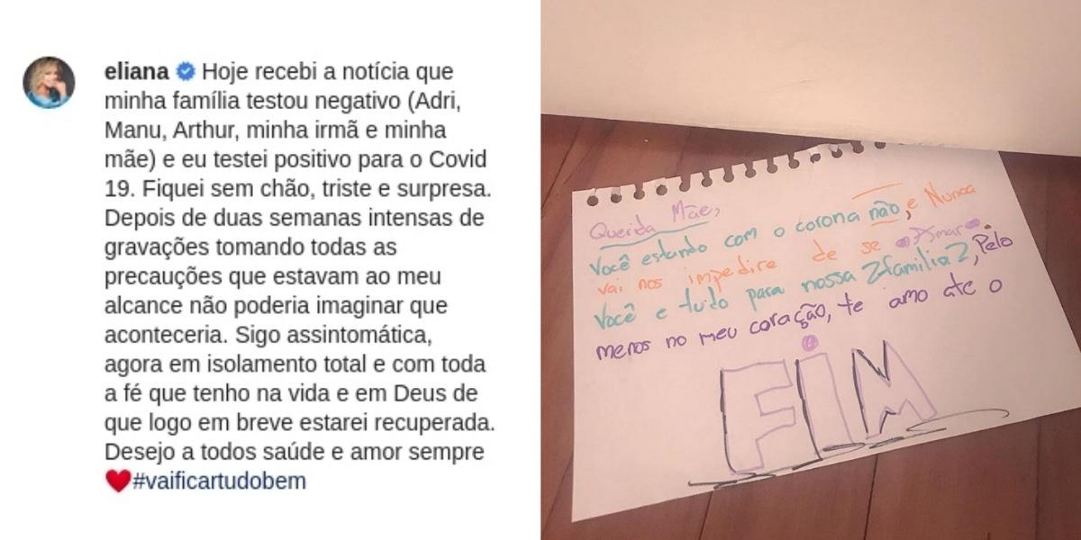 Eliana testa positivo para covid-19 e público não perdoa emissora (Foto: Reprodução/Instagram)