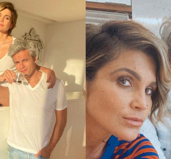 Flávia Alessandra corta cabelo de Otaviano sem ajuda profissional e resultado choca (Foto: Reprodução/Instagram)
