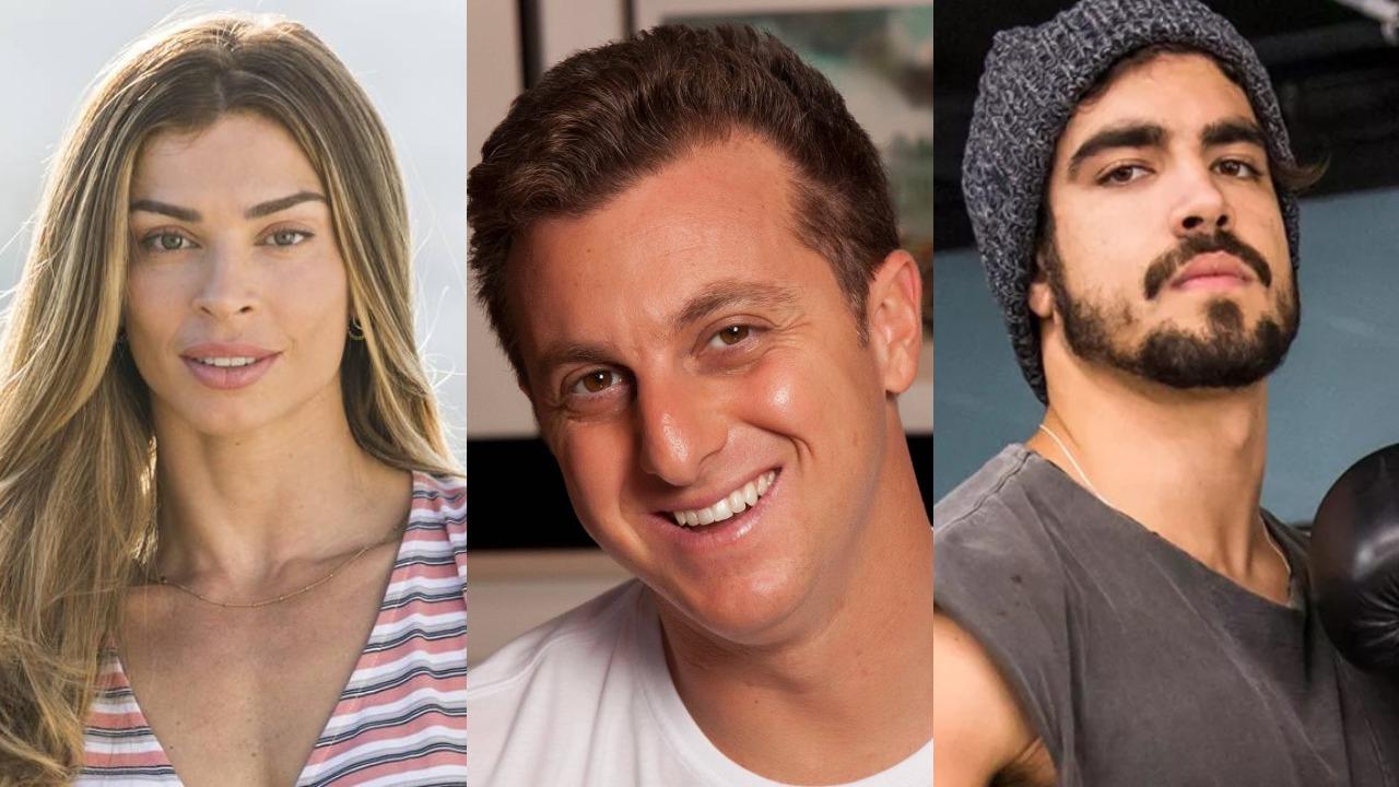 Grazi Massafera, Luciano Huck e Caio Castro (Foto: Reprodução)