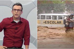 Neto se arriscou em enchente em 2003. (Foto: Montagem/Reprodução)