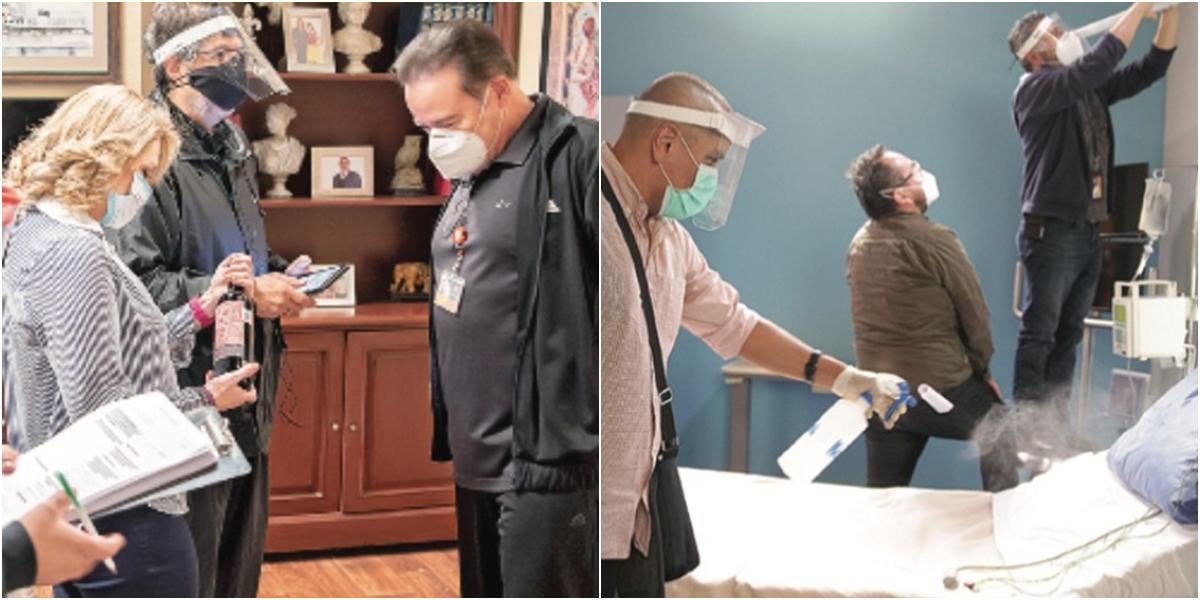 Televisa adotou medidas rigorosas para retomar produção de suas novelas. (Foto: Montagem/Divulgação/Televisa)