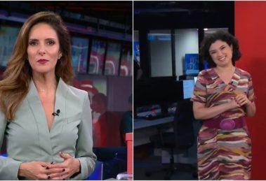 Monalisa Perrone deixou a colega Raquel Landim sem graça na CNN. (Foto: Montagem/Reprodução)