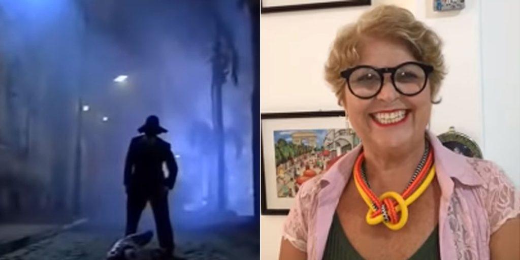 Sonia de Paula interpretou o Cadeirudo em A Indomada. (Foto: Reprodução)