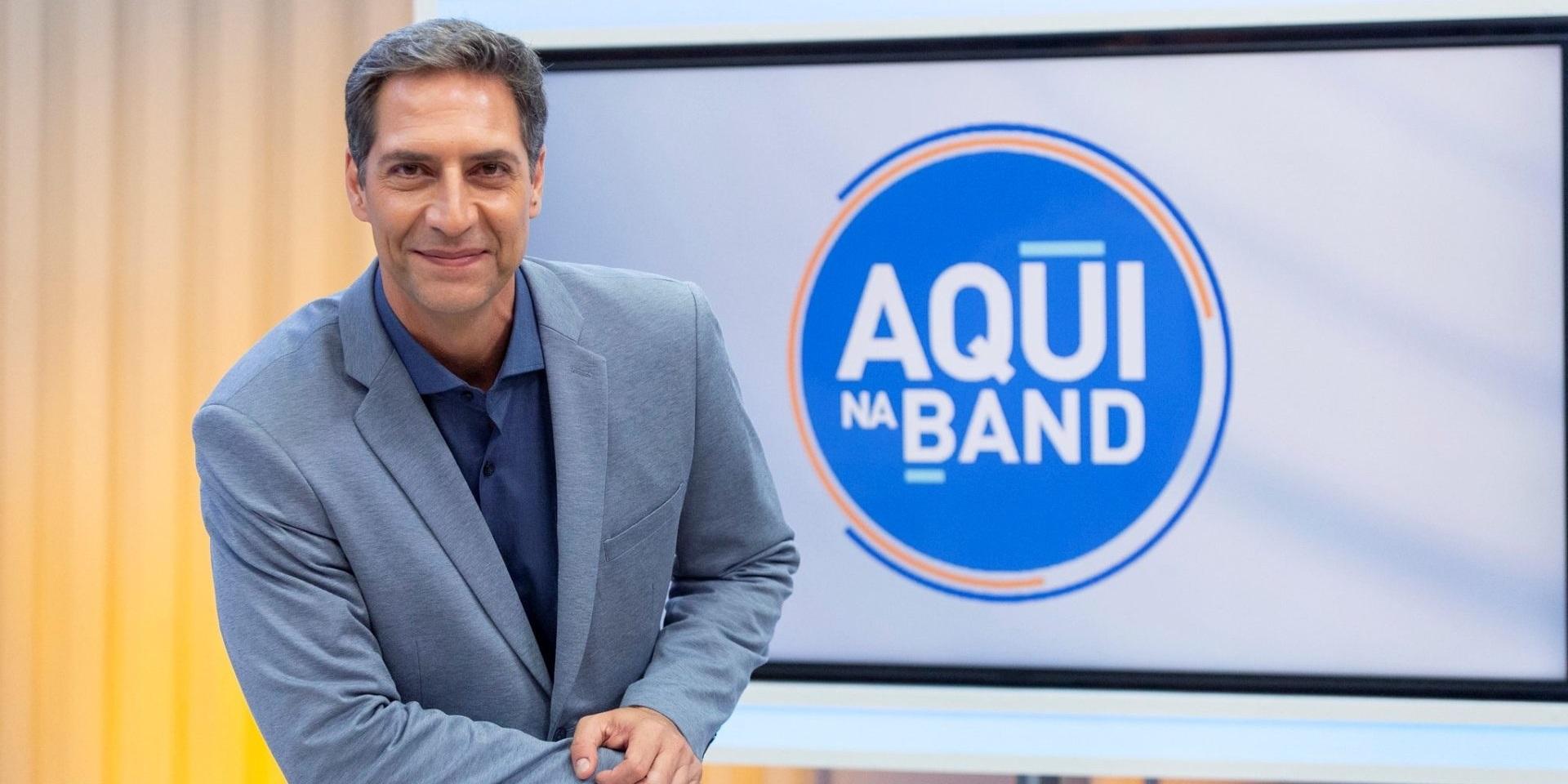 O apresentador comanda o 'Aqui na Band' (Foto: reprodução/Band)