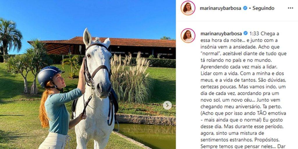 Publicação de Marina Ruy Barbosa (Foto: Reprodução)