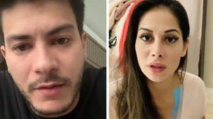 Ex-Panicat é quem teria causado a separação entre Arthur Aguiar e Mayra Cardi (Foto: Montagem/TV Foco)