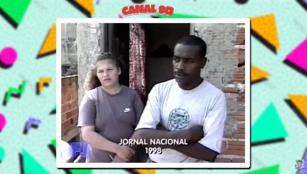 Frame do Jornal Nacional em 1998 (Foto: Reprodução)