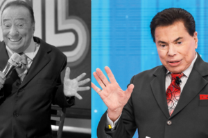 Raul Gil e Silvio Santos