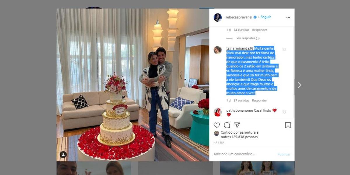 Rebeca Abravanel recebeu recado de fã (Foto: Reprodução/Instagram)
