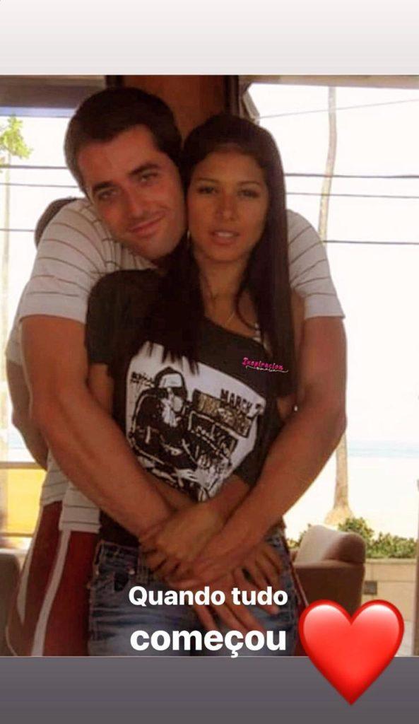 foto antiga de Simaria com o marido (Foto: Reprodução)