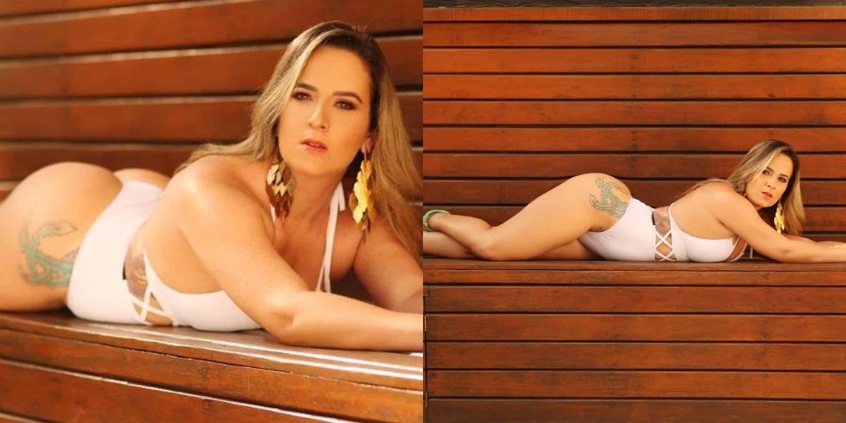 A modelo Suellen Nóbrega, ex-candidata Miss BumBum, sofreu um grave acidente de moto e está em estado grave