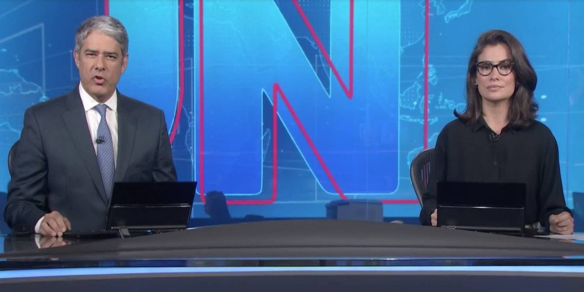 William Bonner e Renata Vasconcellos estão afastados do Jornal Nacional (Foto: Reprodução)