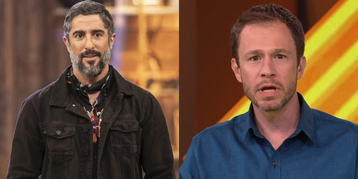 Marcos Mion em A Fazenda e Tiago Leifert no BBB; realitys podem bater de frente na disputa por audiência (Foto: Divulgação/Record/Reprodução/Globo)