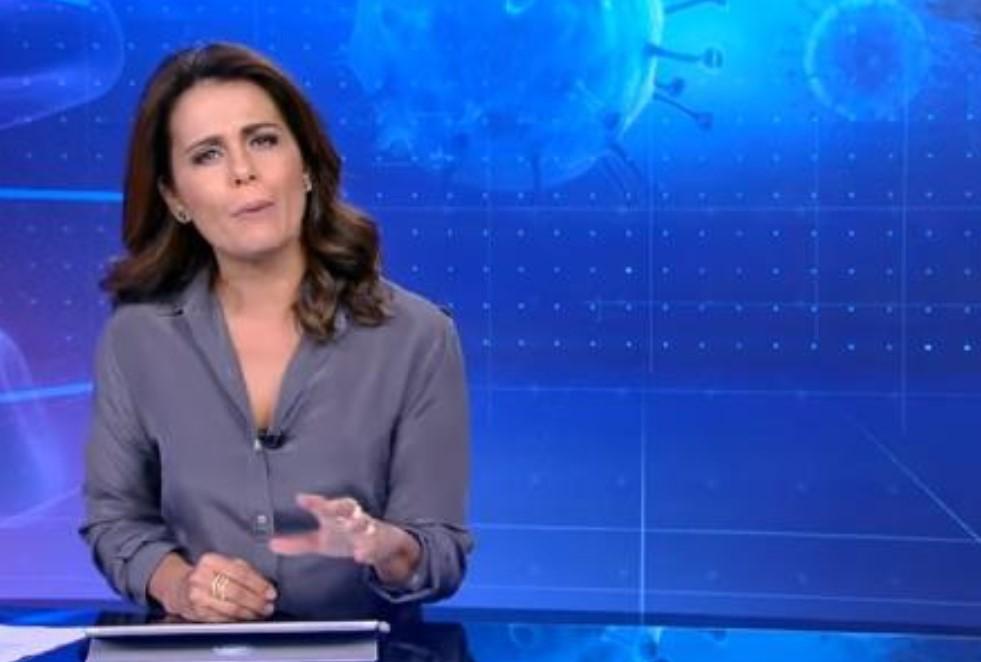 Adriana Araújo foi tirada na cara dura do Jornal da Record - Foto: Reprodução