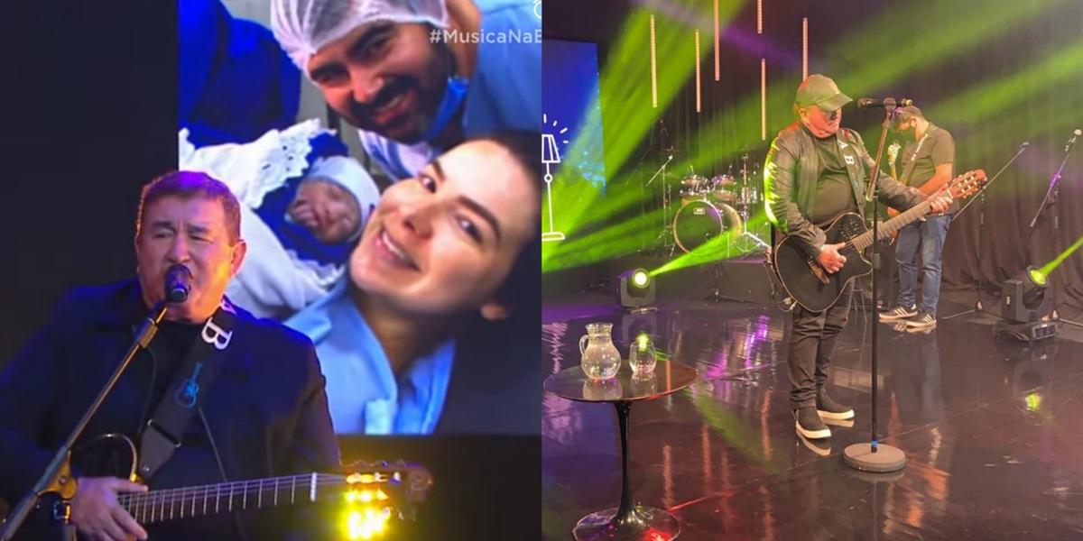 cantor Amado Batista descobre nascimento de neta durante transmissão de live (Foto: Reprodução/YouTuber)