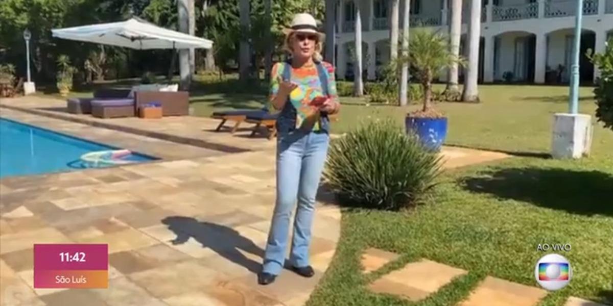 Ana Maria Braga em sua fazenda (Foto: Reprodução/TV Globo)
