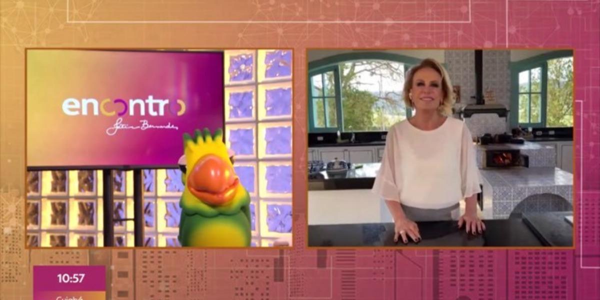 Ana Maria revelou durante o Encontro com Fátima Bernardes da Globo que está com saudades do Louro José (Imagem: Globo)