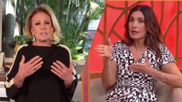 Ana Maria Braga fala sobre o distanciamento social e agradece a Globo por poder trabalhar de casa (Montagem: TV Foco)