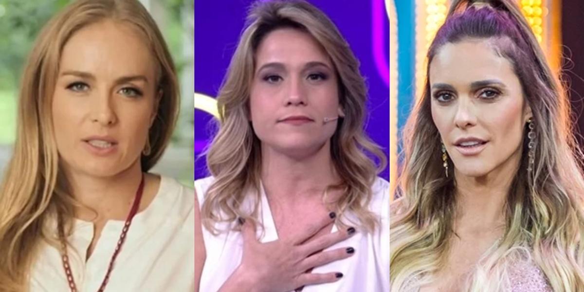 Angélica, Fernanda Gentil e Fernanda Lima estão sem futuro definido na Globo (Foto: Reprodução/Globo/Paulo Belote)