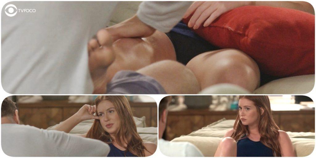 Eliza ganha massagem de Arthur em Totalmente Demais e vibra