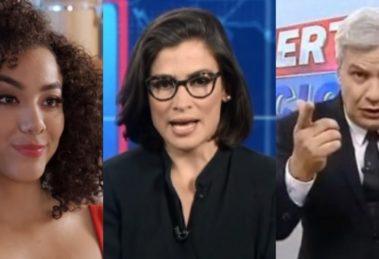 Betty a Feia em NY, Jornal Nacional e Alerta Nacional foram destaques de audiência (Foto: Reprodução/SBT/TV Globo/RedeTV!)