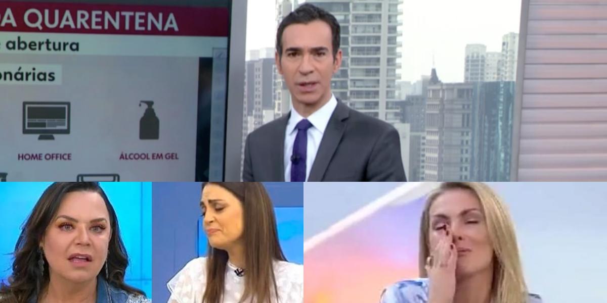 Audiência da TV 05/06: Cesar Tralli marca dois dígitos, Triturando deixa SBT na pior e Hoje Em Dia fica na lama (Foto: Reprodução/Montagem TV Foco)