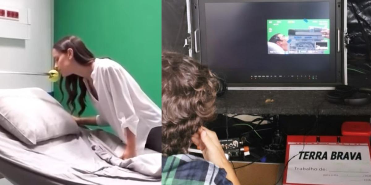 Em Portugal, onde a pandemia já foi controlada, as novelas já são gravadas com cenas de beijos realizadas através de efeitos especiais (Imagem: reprodução)