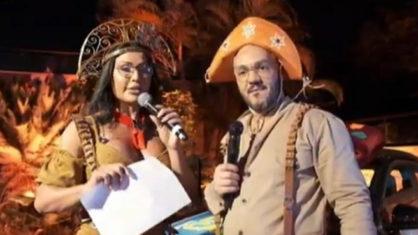 Belo e Gracyanne Barbosa durante live no YouTube (Foto: Reprodução)