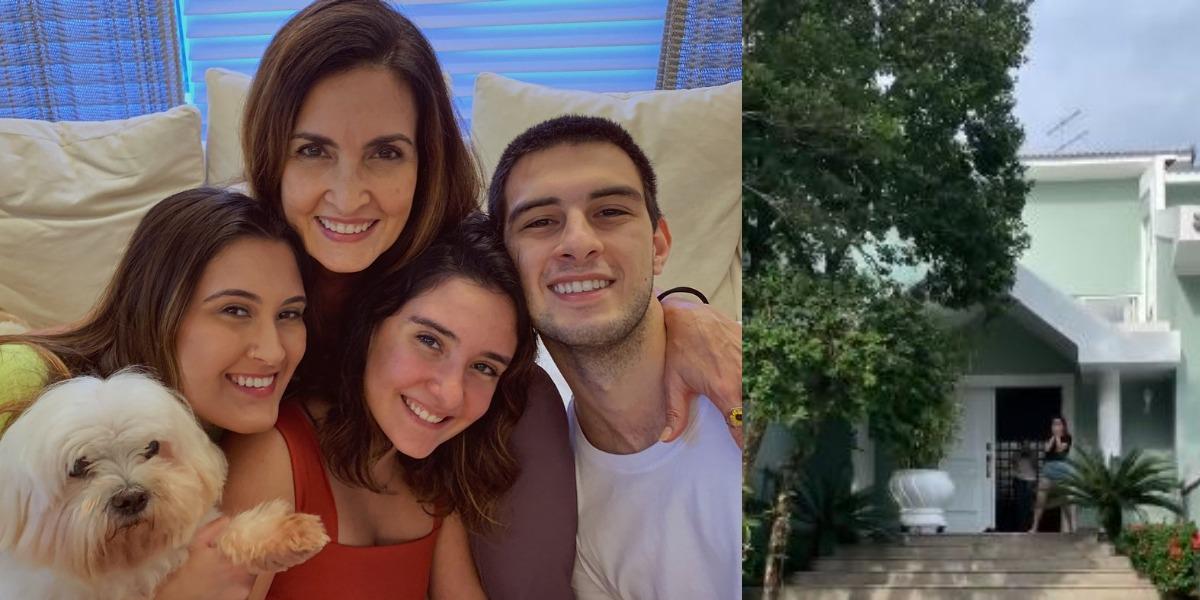 Bia Bonemer com os seus irmãos e Fátima Bernardes (Foto: Reprodução/Instagram)
