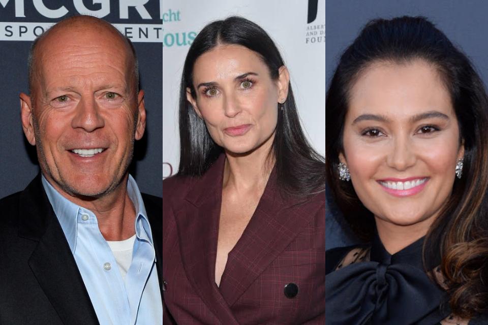 No dia dos pais, Bruce Willis recebe homenagens da atual e ex-esposa (Foto: Reprodução)