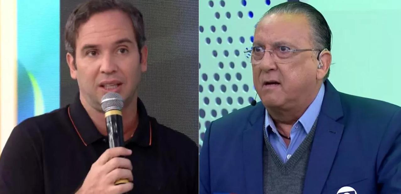 Caio Ribeiro e Galvão Bueno discutem em programa do SporTV (Foto: Reprodução)