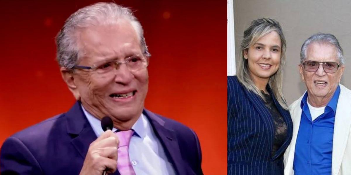 Carlos Alberto de Nóbrega está casado com Renata Domingues desde 2018 (Foto: Reprodução/SBT/Instagram)