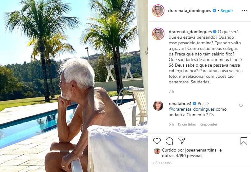 O apresentador invadiu o Instagram da esposa e deixou recado especial