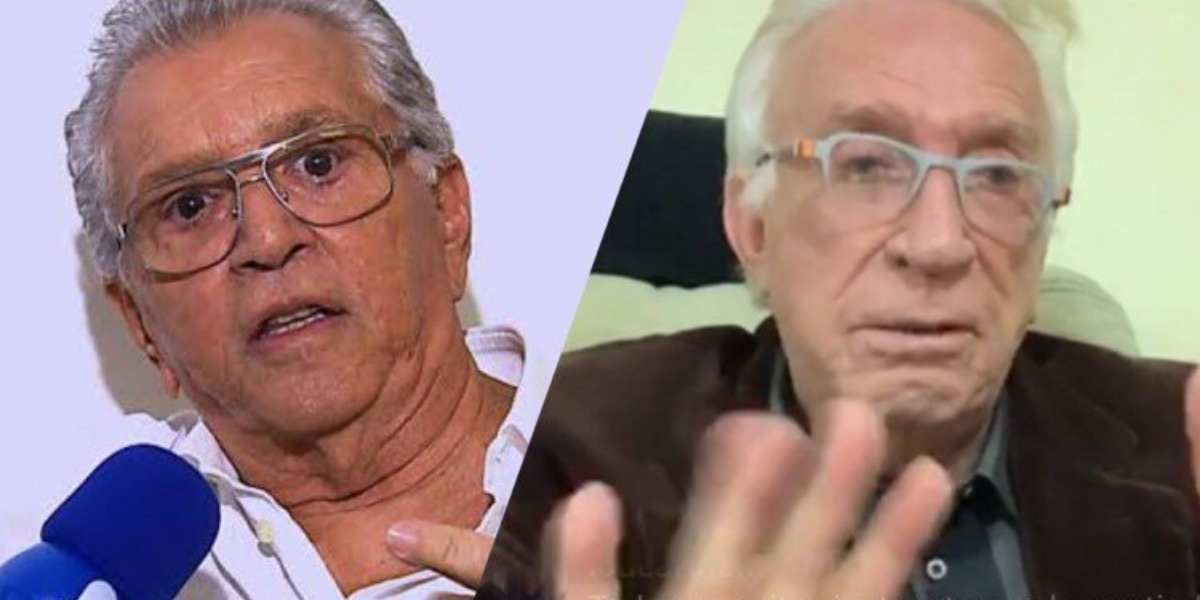 Moacyr Franco é citado por Carlos Alberto de Nóbrega em entrevista e diz que eles continuam amigo após demissão do SBT (Montagem: TV Foco)