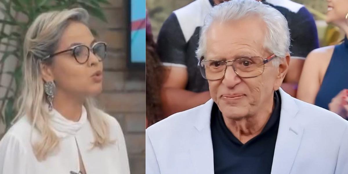 Carlos Alberto de Nóbrega e sua esposa Renata Domingues (Foto: Reprodução/Instagram/SBT)