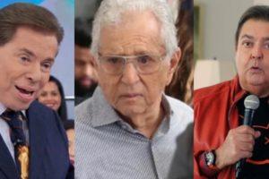 Carlos Alberto foi citado por Faustão após treta com Silvio (Foto montagem: TV Foco)