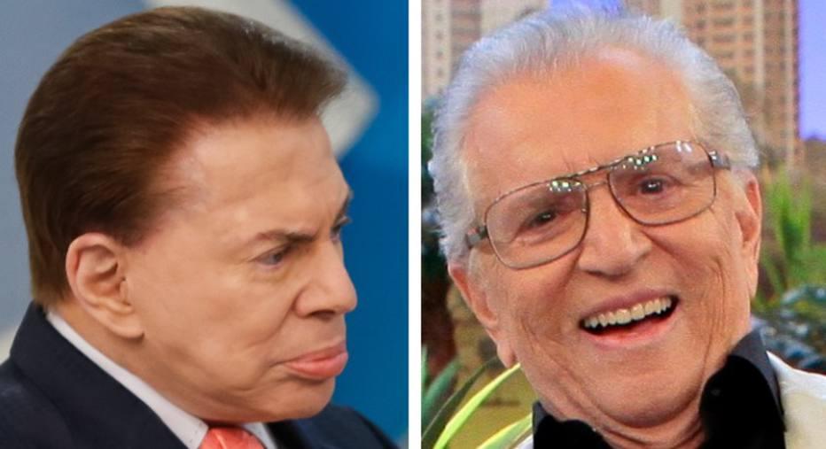 Carlos Alberto de Nóbrega ficou sem falar com Silvio Santos por anos - Foto: Montagem