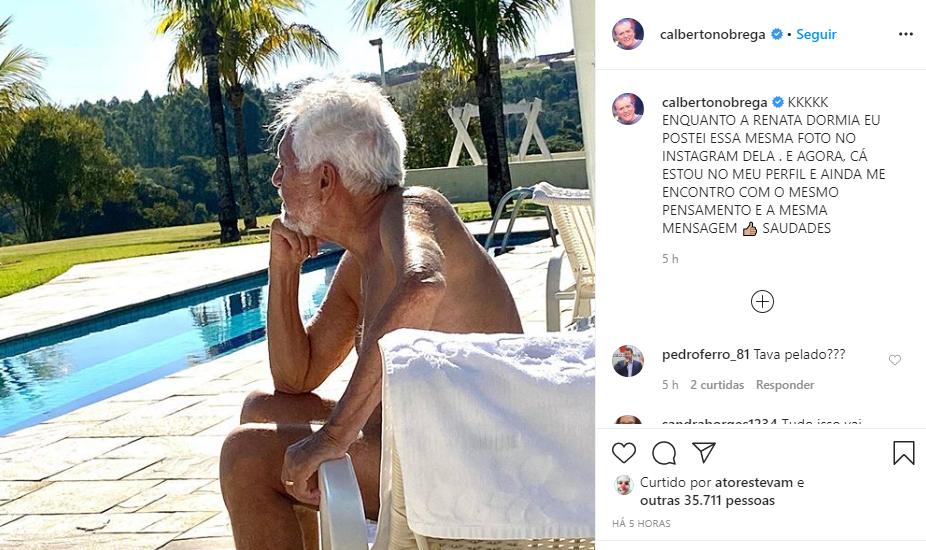 Carlos Alberto repostou a mesma foto em seu Instagram