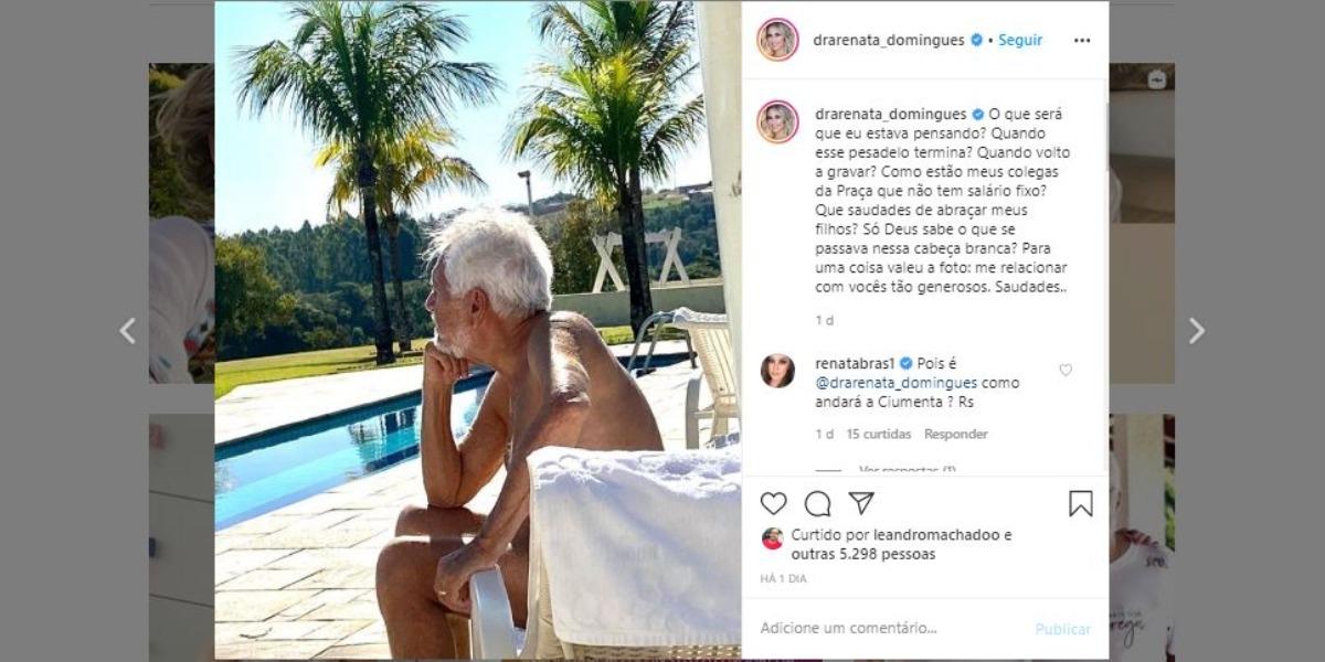 Carlos Alberto de Nóbrega fez profunda reflexão (Foto: Reprodução/Instagram)