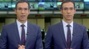 César Tralli exibiu rua após tentativa de assalto (Foto: Reprodução/TV Globo)