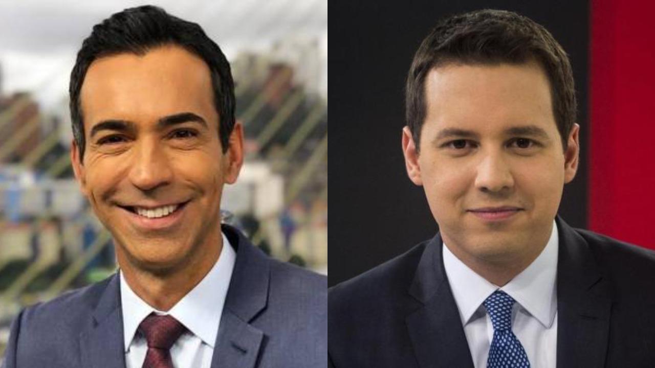 César Tralli e Reinaldo Gottino são cotados para a CNN Brasil (Foto: Reprodução/TV Globo)