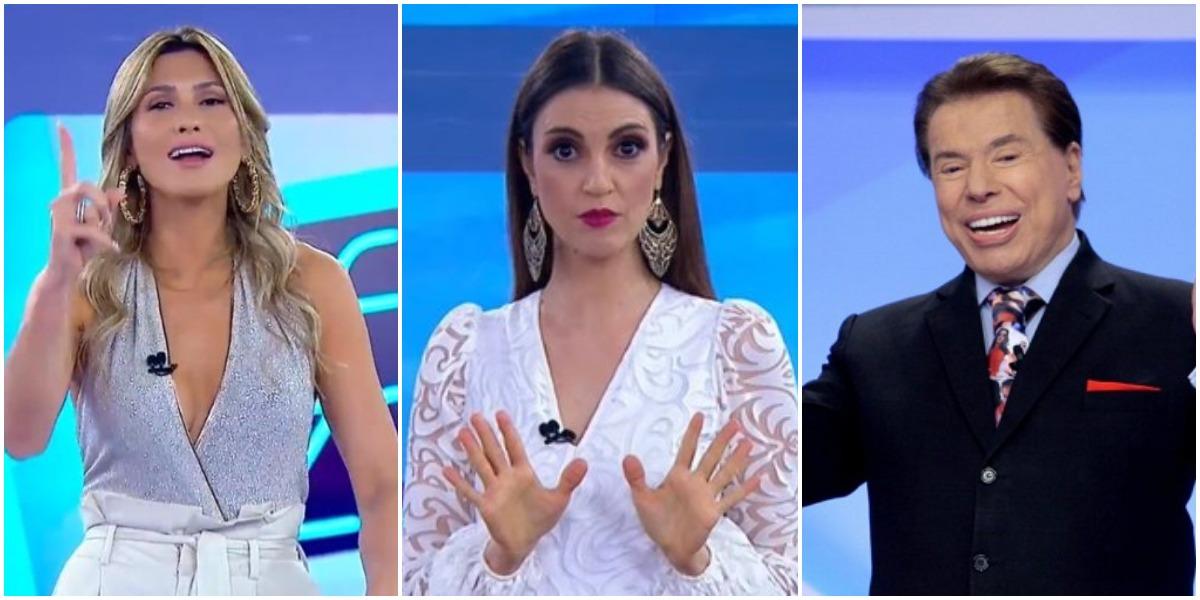 Lívia Andrade aguarda decisão de Silvio Santos após ser trocada por Chris Flores (Foto: Reprodução/SBT)
