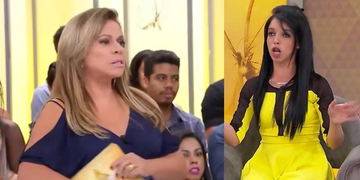 Christina Rocha expulsou convidada do Casos de Família (Foto: Reprodução/SBT)
